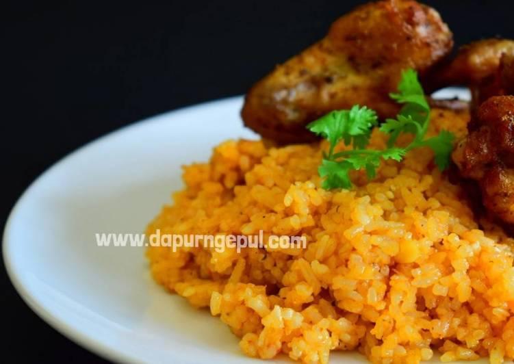 Tomato Rice & Curry Chicken (Nasi Tomat Malaysia & Ayam kari)