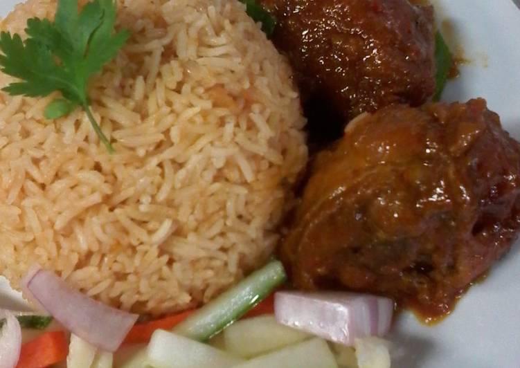 Cara memasak Nasi Tomat dan Ayam masak merah yang menggugah selera