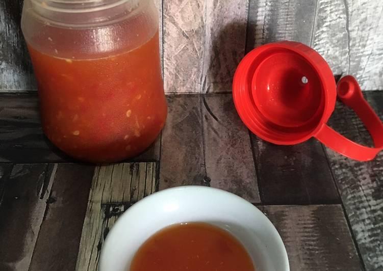Resep: Cuka Merah utk cocolan pempek goreng-rebus/otak-otak/bakso goreng yang bikin ketagihan