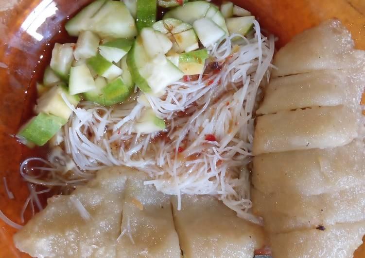 Resep memasak Pempek selem tanpa ikan giling yang menggugah selera