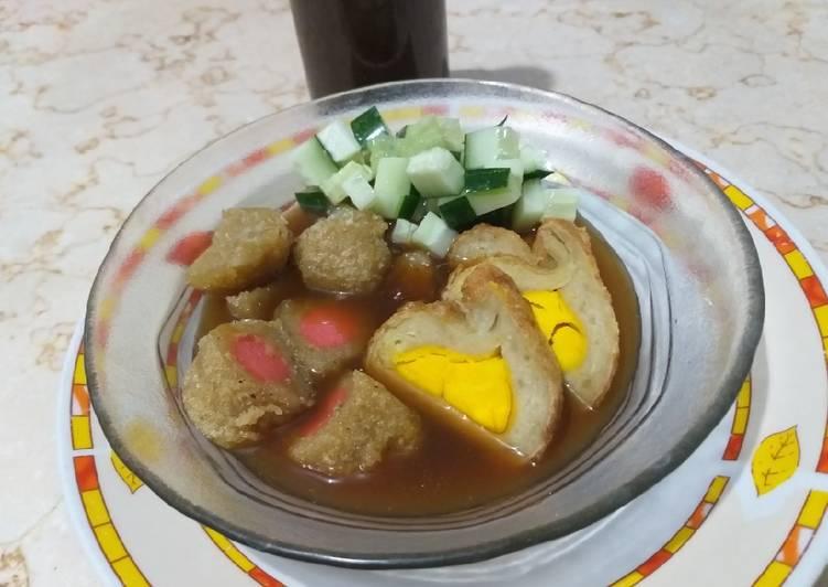 Cara Mudah memasak Pempek nasi ebi kuah cuko+step by step sedap