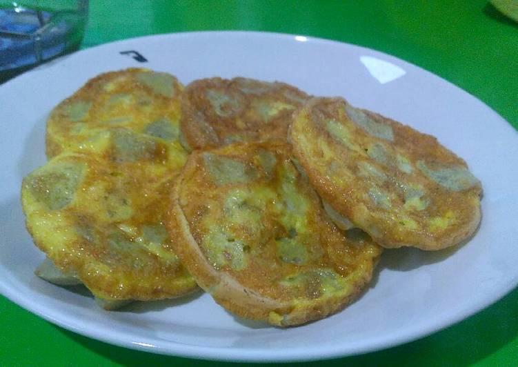 Cara membuat 8. Pempek lenggang goreng teflon #BikinRamadhanBerkesan #takjil istimewa