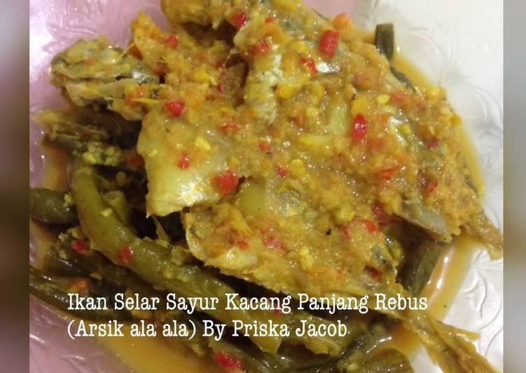 Ikan Selar Sayur Kacang Panjang Rebus (Arsik ala ala)