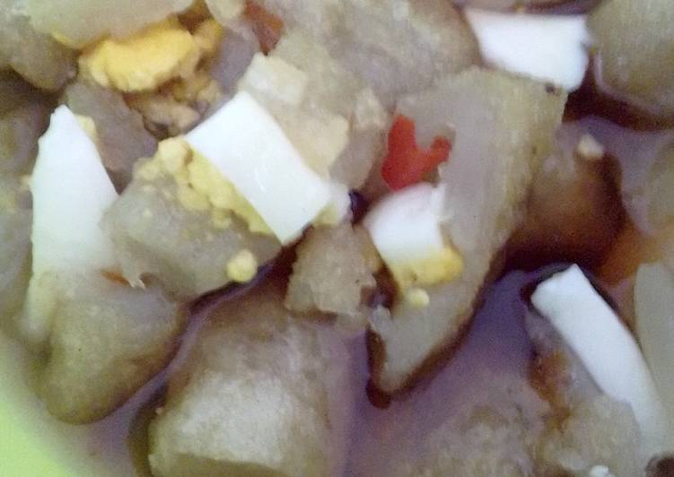 Resep membuat Pempek telur tanpa ikan simple n hemat enak