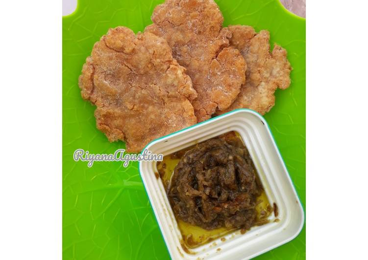 Resep memasak Pempek udang Crispy Sambal ijo lezat