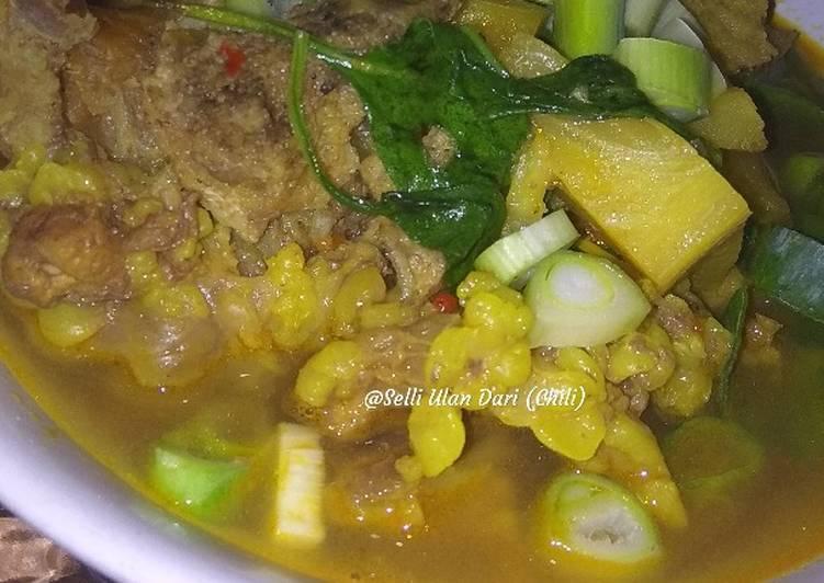 Resep: Pindang Sapi pedas (daging,tulang iga dan tetelan) enak