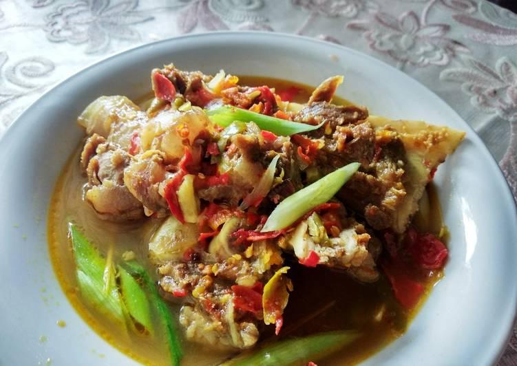 Resep: Pindang tulang Palembang / pindang daging lezat