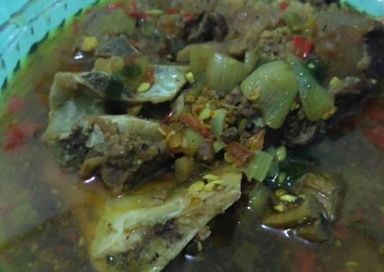 Cara Mudah memasak Pindang tulang daging sapi ala resto