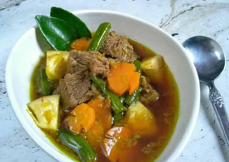 Resep: (1.29) Pindang Daging Khas Palembang ala resto