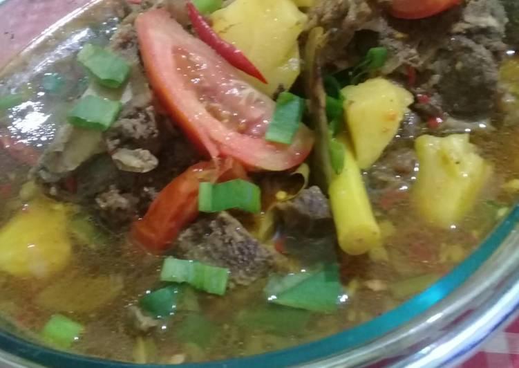Cara Mudah memasak Pindang Tulang khas Palembang lezat