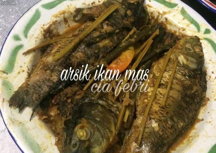 Resep: Arsik ikan mas ala fe' yang menggoyang lidah