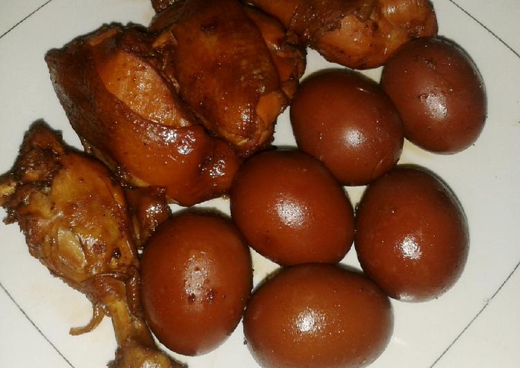 Telur ayam pindang