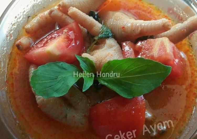 Resep: Pindang ceker ayam 🐣 lezat