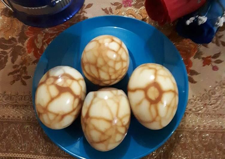 Resep: Pindang Telur Ayam Marmer #ketopad_cp_aneka telur