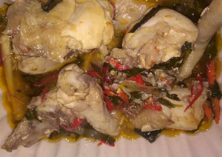 Resep: Ayam pindang daun kemangi ala mama nuy sedap