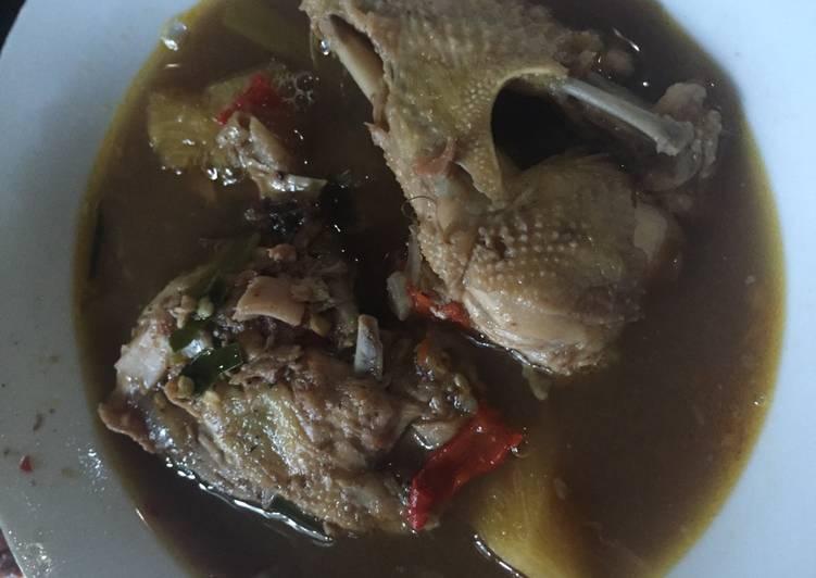 Cara Mudah mengolah Pindang Ayam makyus yang bikin ketagihan