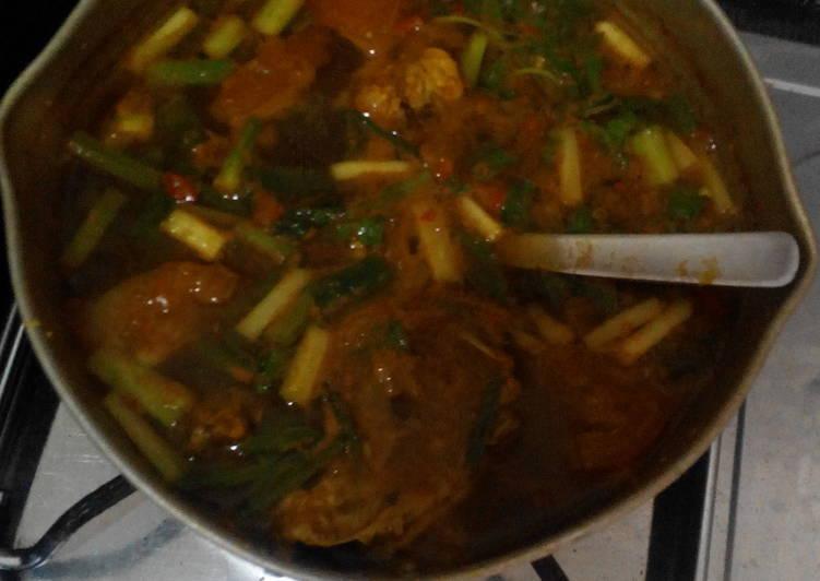 """Resep mengolah Pindang Ayam Pedas """"Palembang"""" yang bikin ketagihan"""