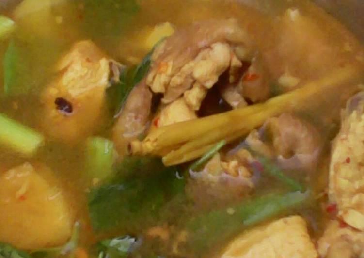 Resep: Pindang ayam daun kemangi enak