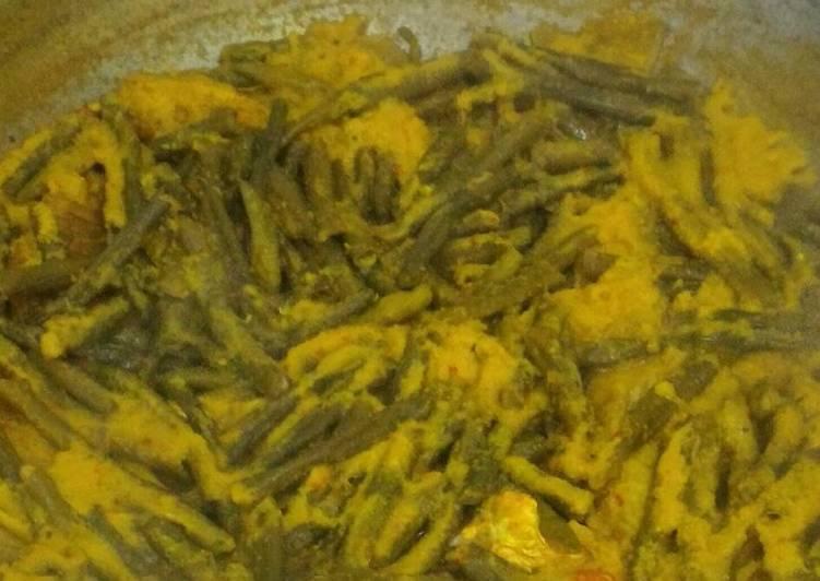 Resep: Arsik Ikan Ekor Kuning bumbu Kacang Panjang lezat