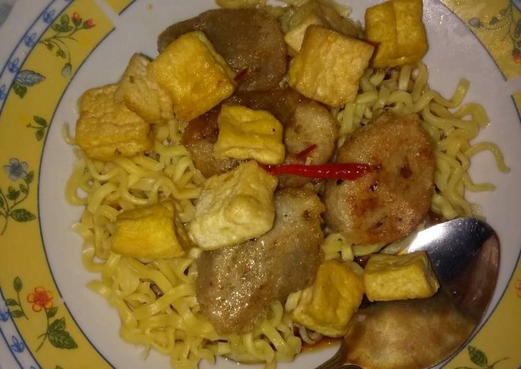 Resep membuat Rujak mie home made mudah dan enak