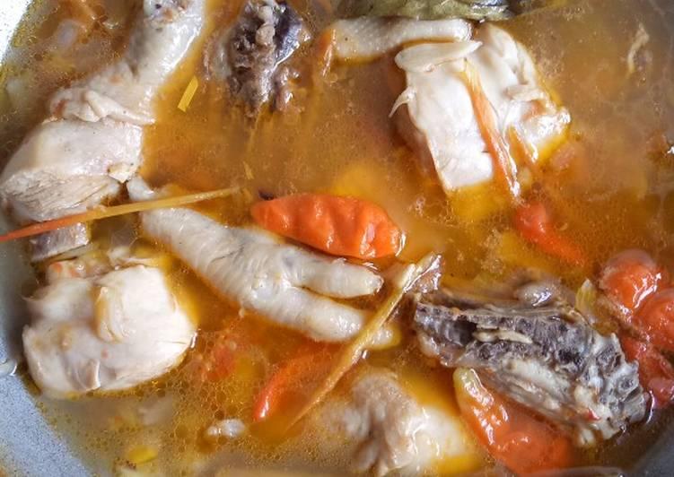 Resep memasak Garang asem ayam, tanpa pepes istimewa