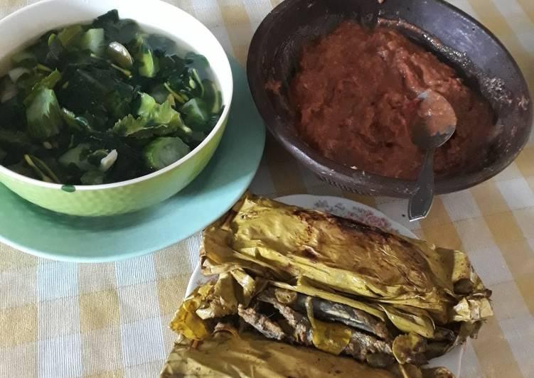 Resep: Pepes Dencis,Sayur Bening,Sambal Terasi ala resto