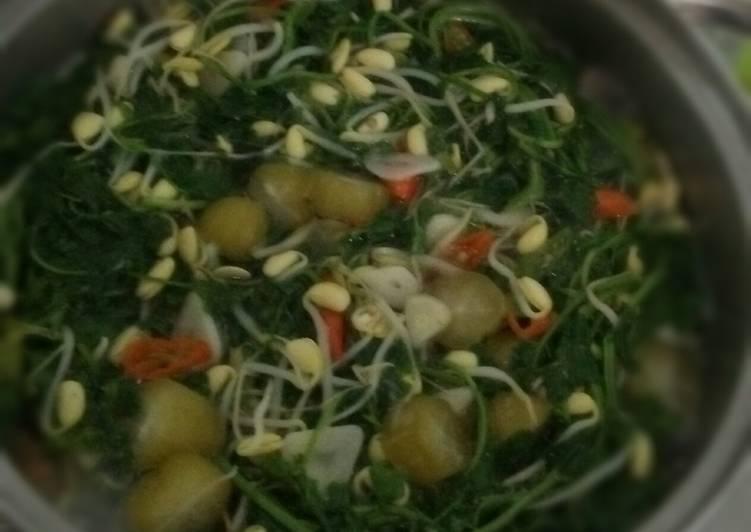 Resep: Sayur asem selada air cambah kedelai sedap