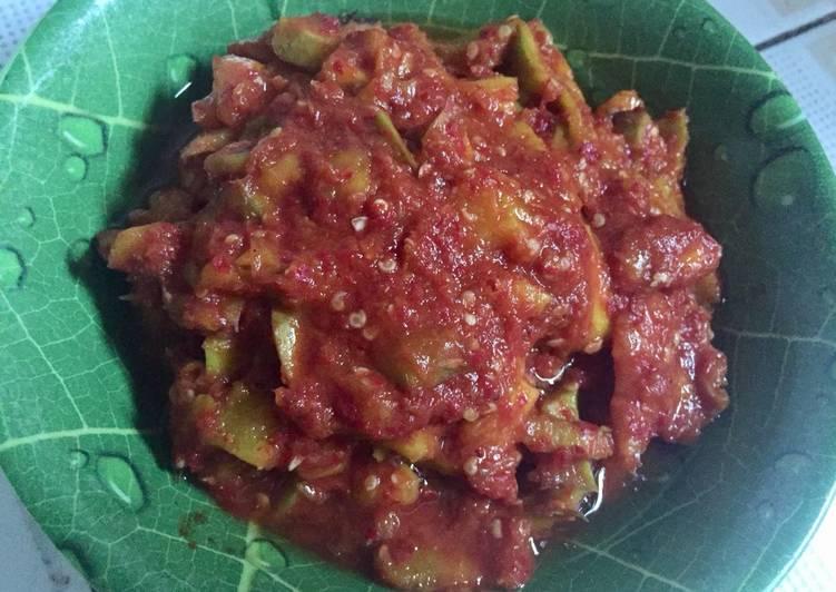 Resep: Sambal Mangga Kweni Cocok untuk temani ikan bakar mu istimewa