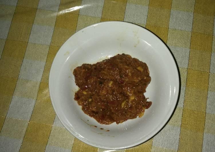 Resep: Sambal kueni/mangga istimewa
