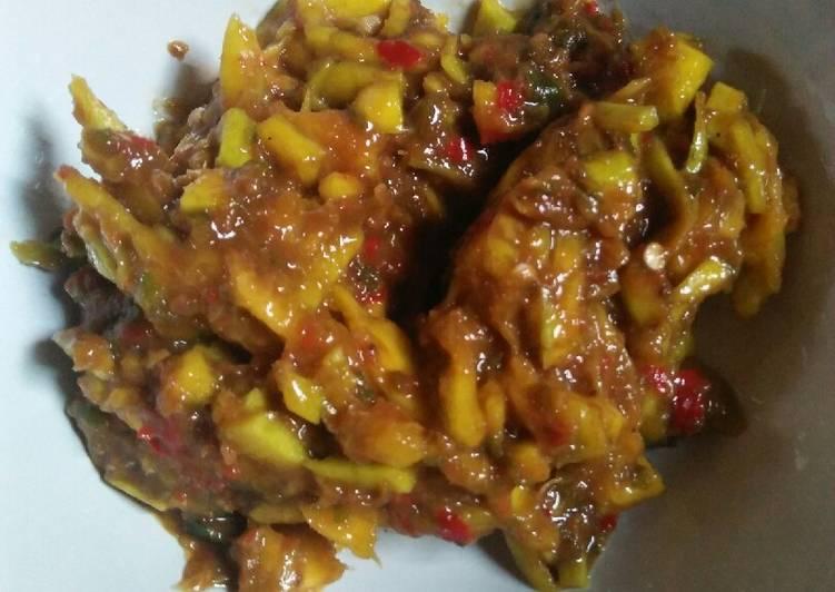 Cara memasak Sambal buah mangga kueni istimewa