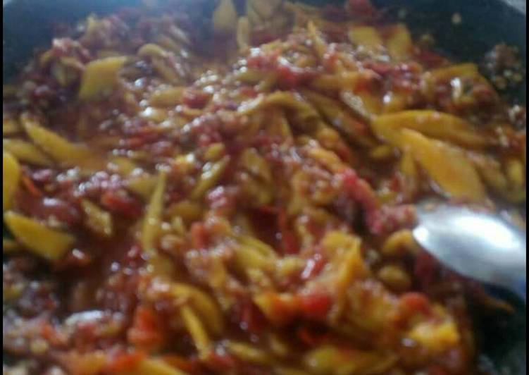 Resep memasak Sambal terasi mangga kuweni istimewa