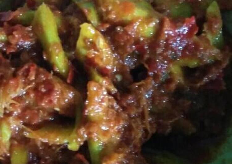 Resep: Sambal terasi mercon mangga kuweni