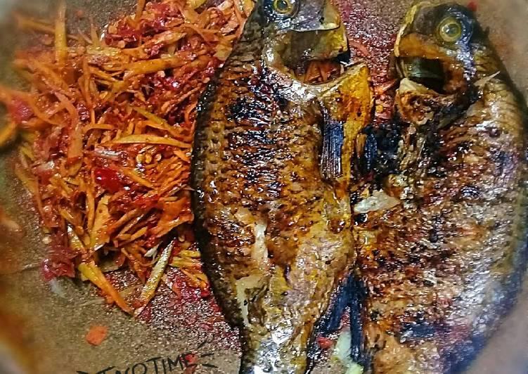 Resep: Nila bakar dg sambal mangga.🌶🌶🐟🐟 istimewa