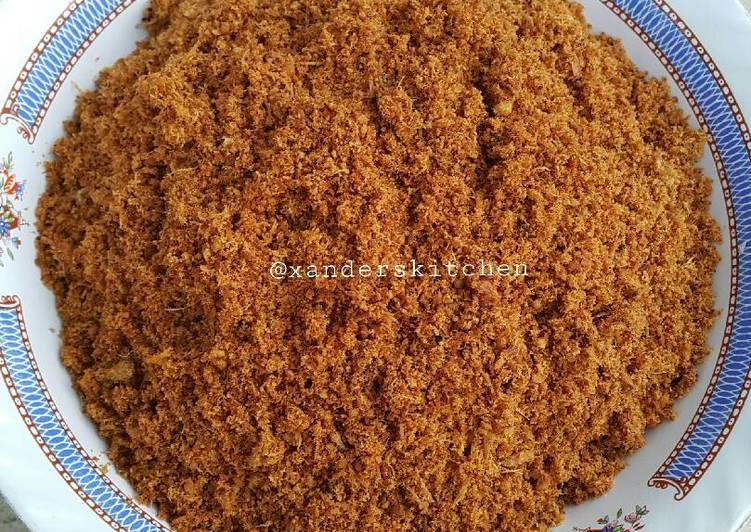 Resep: Abon ikan / sambal lingkung enak
