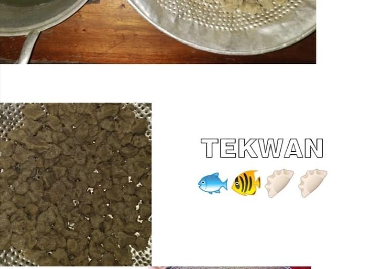 Cara memasak 🍲Tekwan ikan Teri🍲 yang menggugah selera