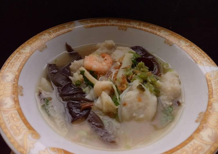 Resep memasak Tekwan ikan tenggiri istimewa