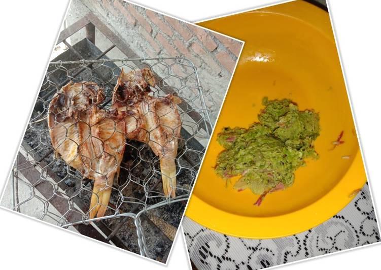 Cara Mudah memasak Ikan mas panggang sambal kecombrang enak