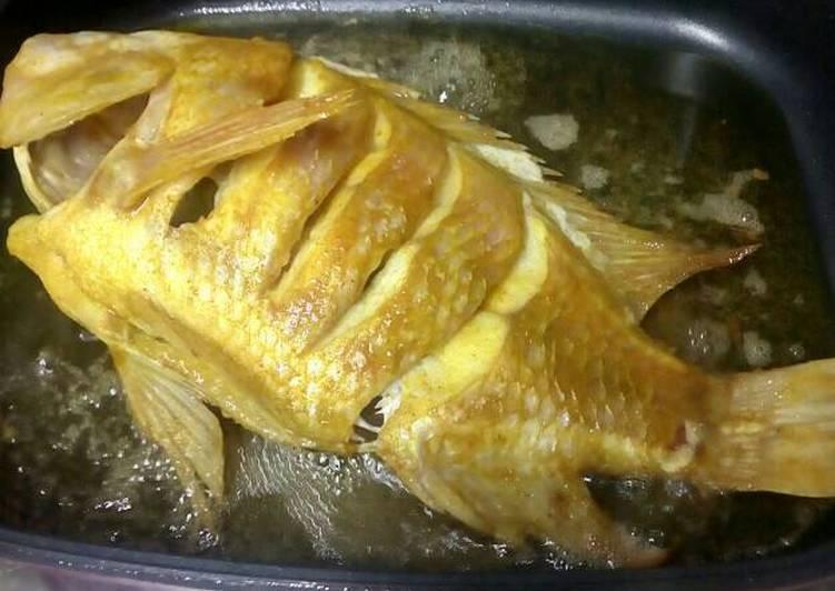 Cara Mudah memasak Ikan emas panggang serbuk karri sedap