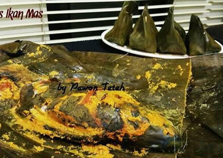 Cara Mudah memasak Pepes ikan mas ala resto