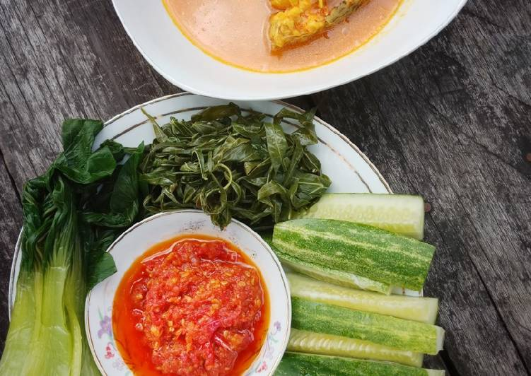 Resep: Tempoyak sedap mantap plus rebusan sayur dan sambal terasi enak