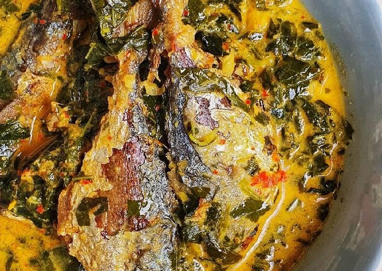 Resep: Gulai Ikan Kembung & Daun Singkong lezat