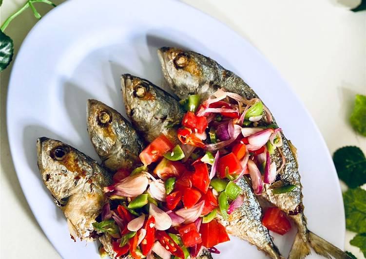 Cara memasak Ikan kembung dabu-dabu sedap