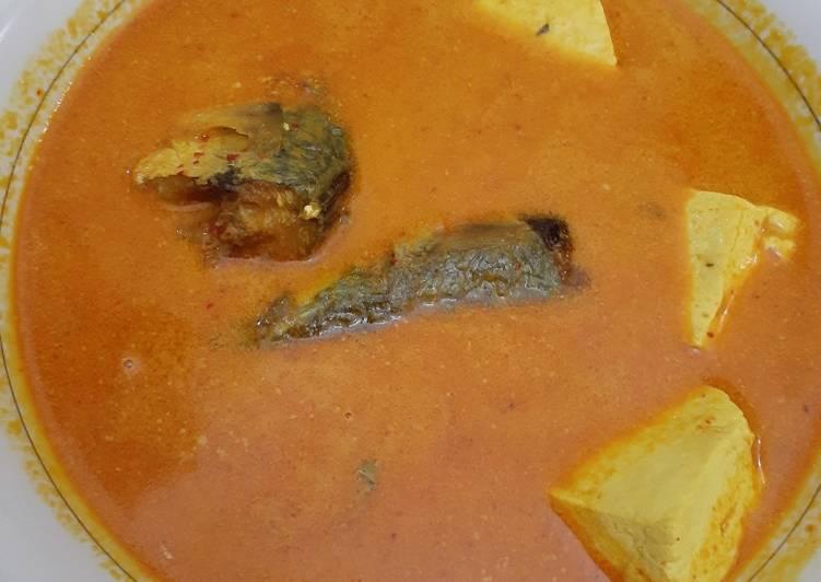 Cara memasak Gulai ikan kembung dan tahu yang menggugah selera