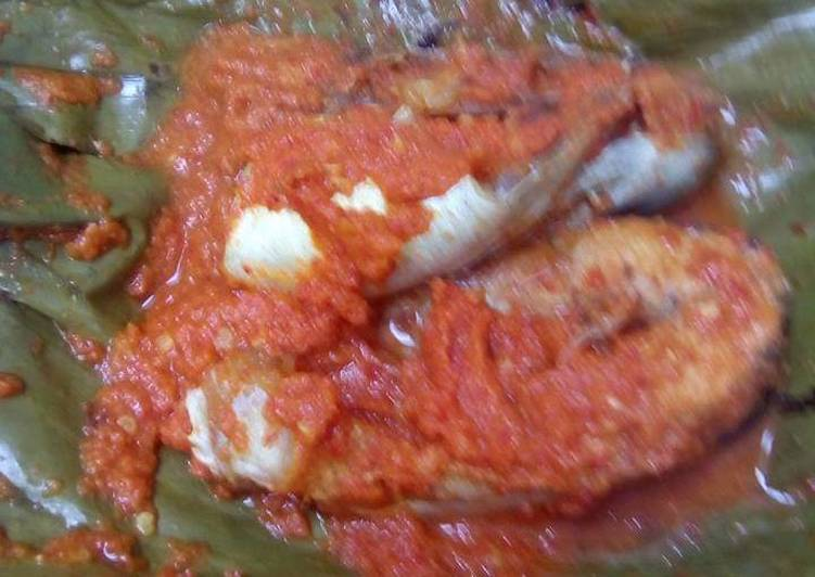 Pepes patin tempoyak