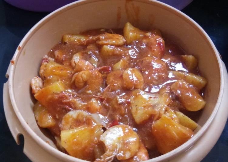 Resep: Sambal udang nanas +tempoyak ala resto