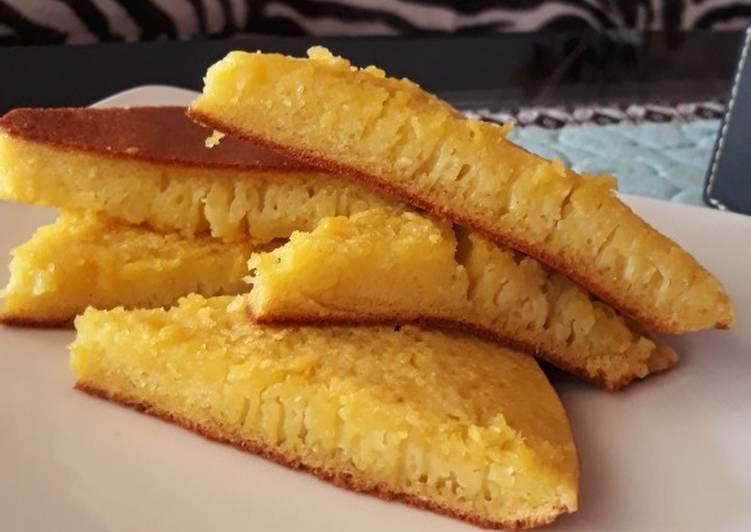Resep: Bika Ambon teflon praktis 2 telur enak