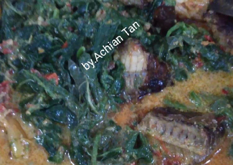 Resep: Gulai pucuk ubi ikan asap ala resto