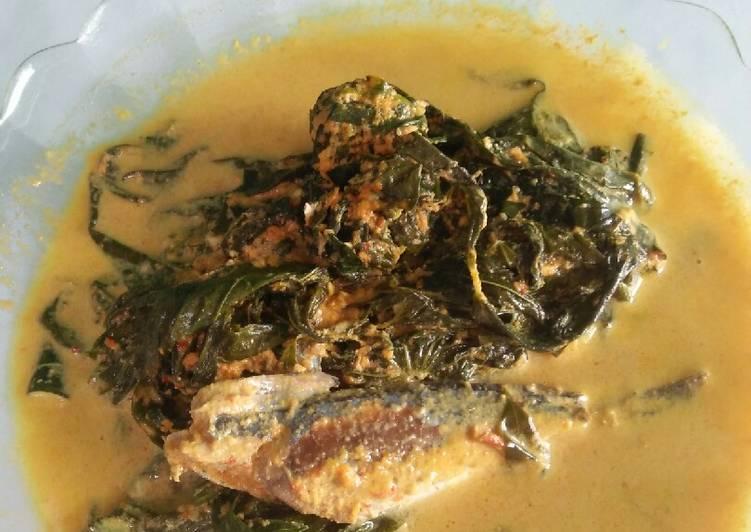 Resep: Gulai pucuk ubi ikan serai lezat