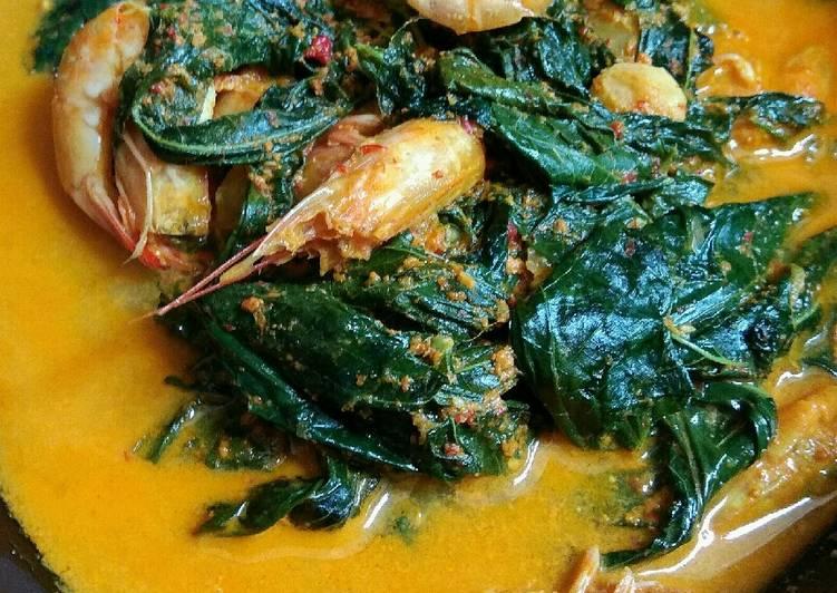 Resep: Gule udang pucuk ubi kelembar (khas Tapanuli) sedap