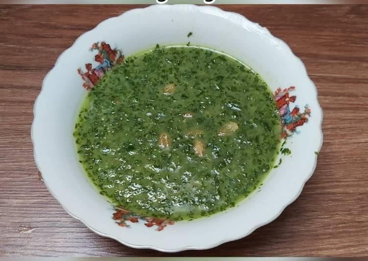 Cara Mudah mengolah Sayur Singkong Tumbuk Hijau/sayur ubi tumbuk sederhana sedap